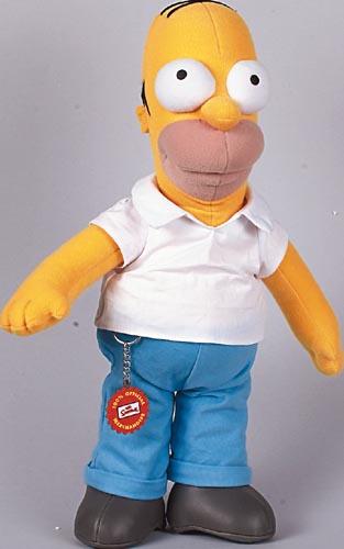 Figur Homer Simpson 38cm Plüsch