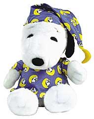 Snoopy Serie: Plüschfigur Snoopy im Schlafanzug